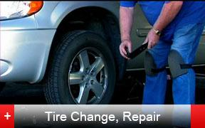 Abatic can fix your tire at the scene, can use your spare, or can call an Abatic tow truck.